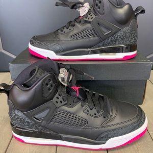 New Air Jordan Spizike Black Deadly Pink Shoes GS